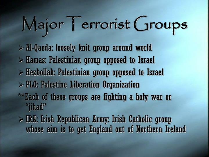 Major Terrorist Groups
