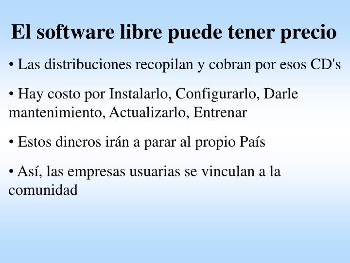 El software libre puede tener precio