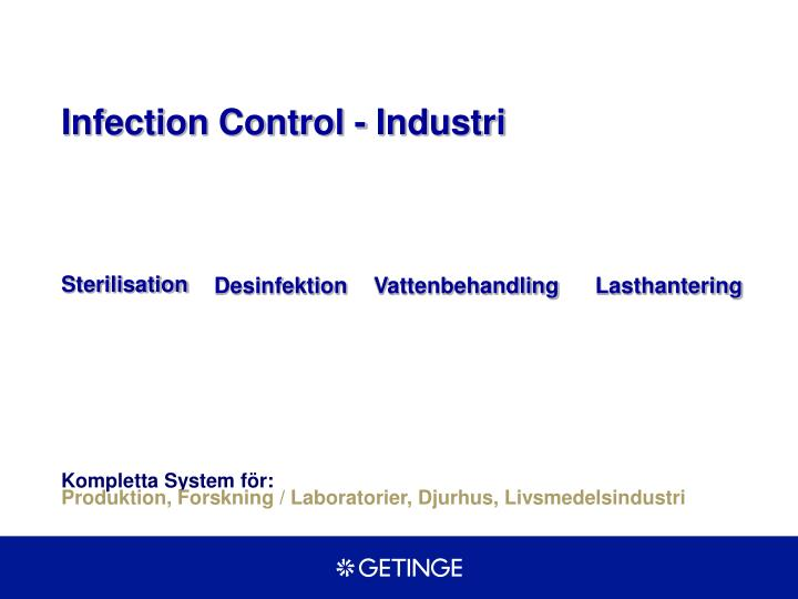 Infection Control - Industri