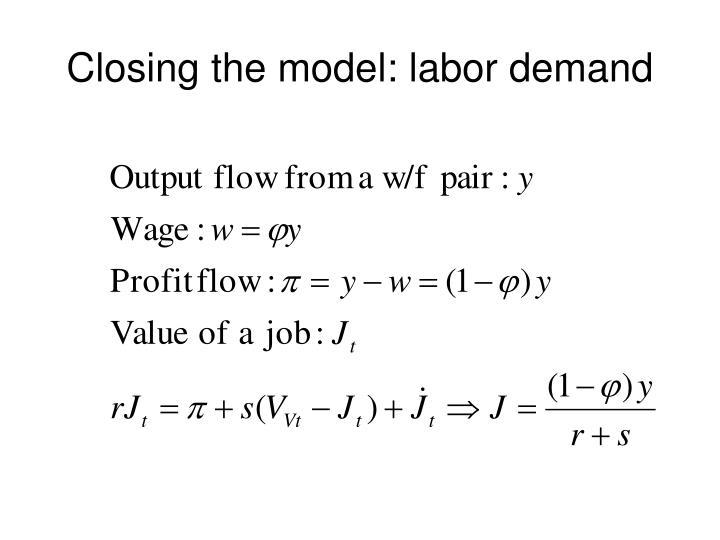 Closing the model: labor demand