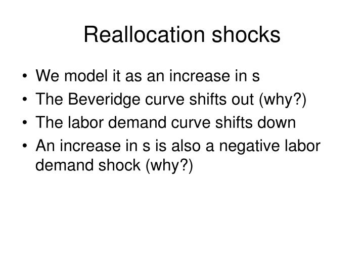 Reallocation shocks