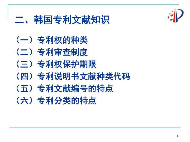 二、韩国专利文献知识
