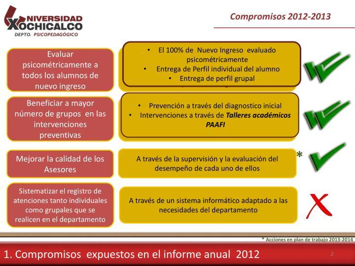 Compromisos 2012-2013