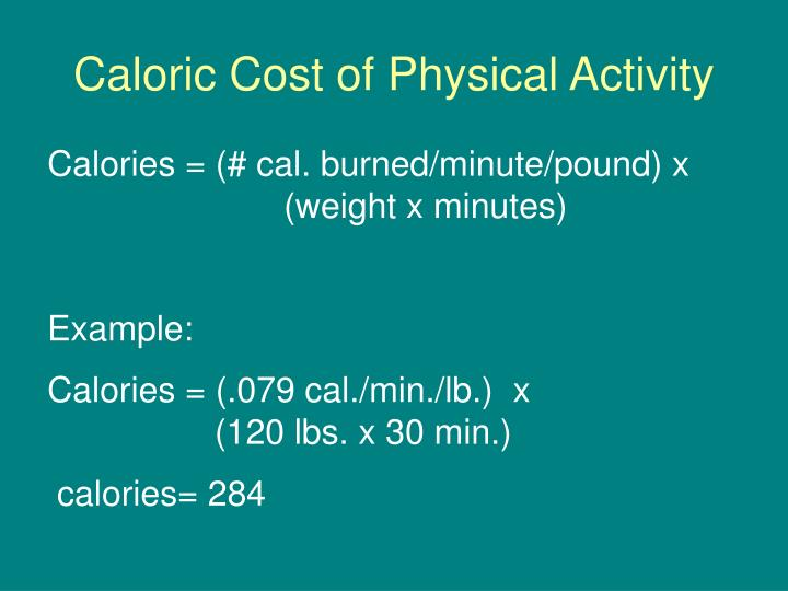 Caloric Cost of Physical Activity
