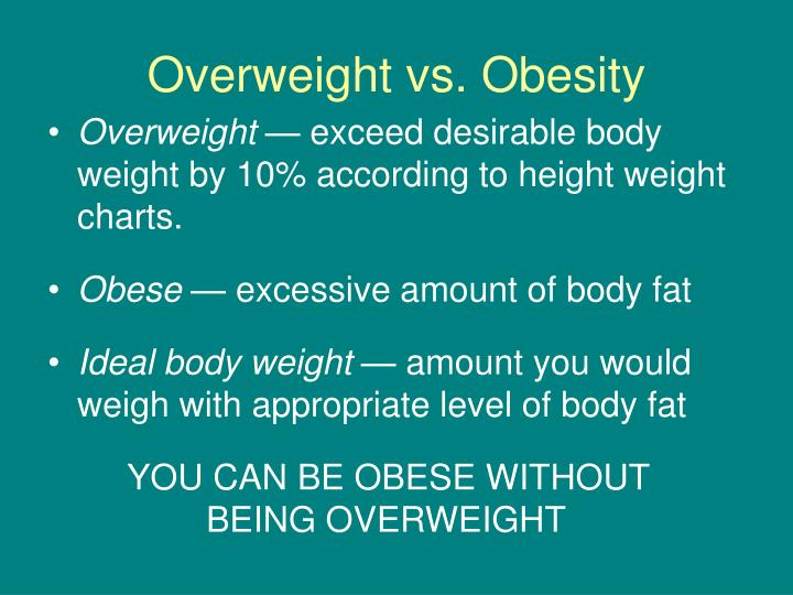 Overweight vs. Obesity