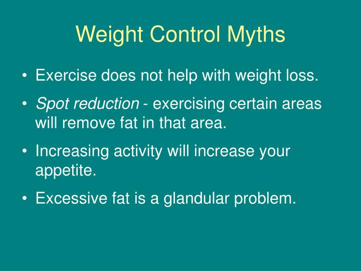 Weight Control Myths