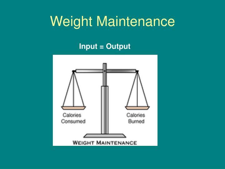 Weight Maintenance