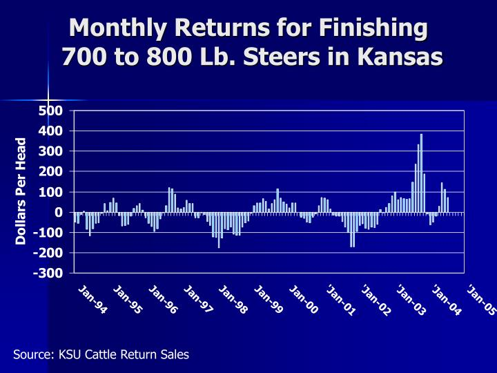 Monthly Returns for Finishing