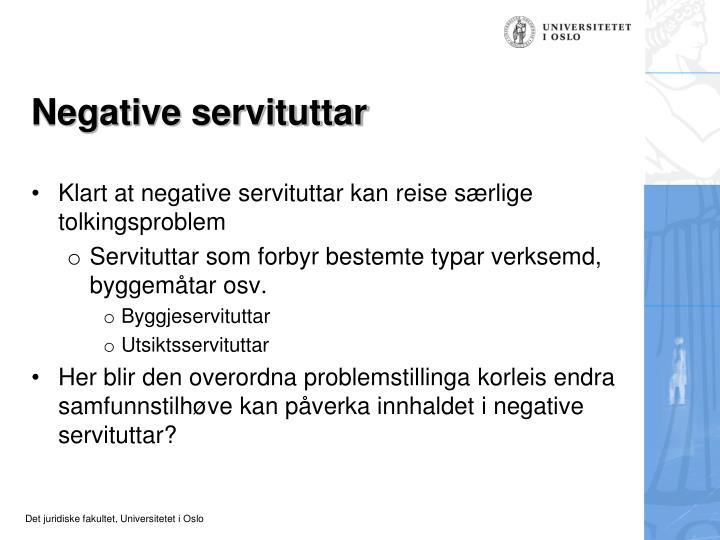 Negative servituttar