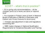 ecvet what s that in practice