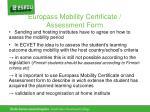 europass mobility certificate assessment form