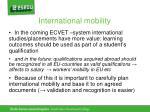 international mobility