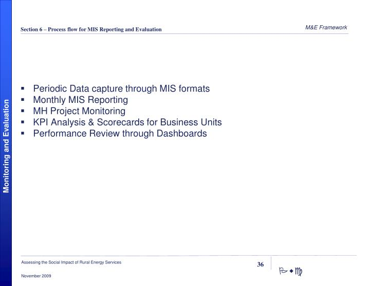 Periodic Data capture through MIS formats
