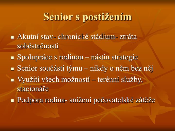 Senior s postižením