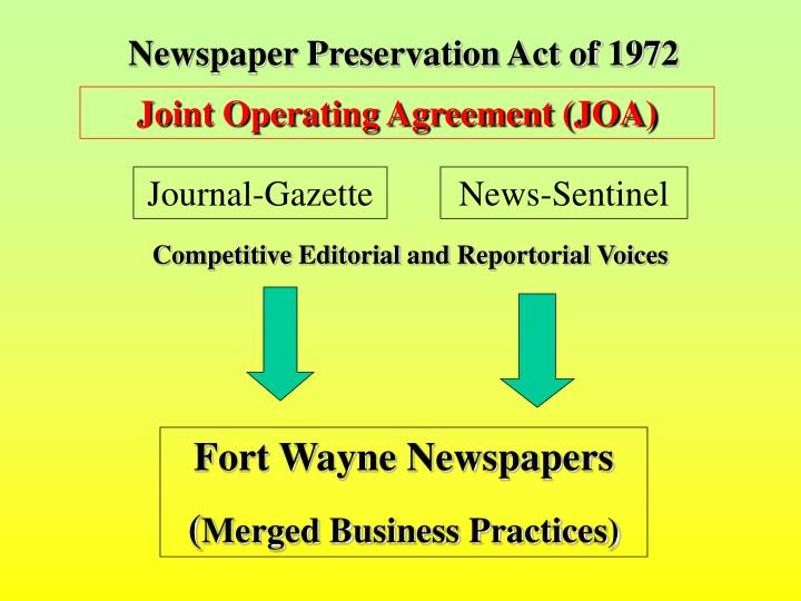 Newspaper Preservation Act of 1972