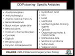 od poisoning specific antidotes
