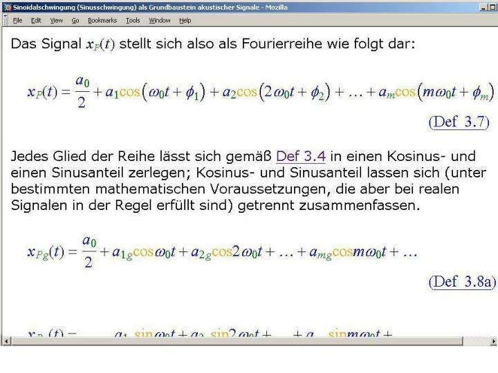 Beispiel für MathML