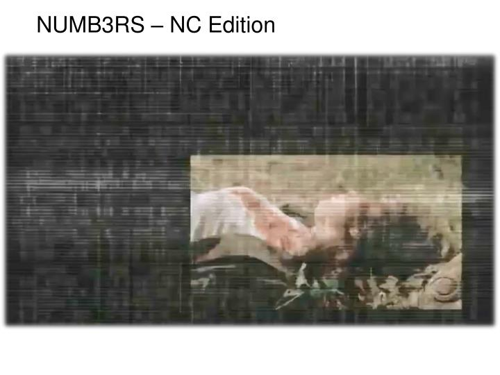 NUMB3RS – NC Edition