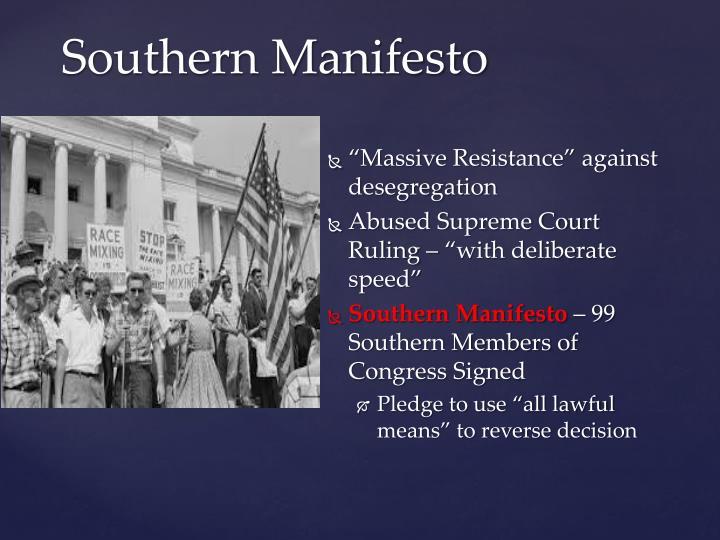 """""""Massive Resistance"""" against desegregation"""