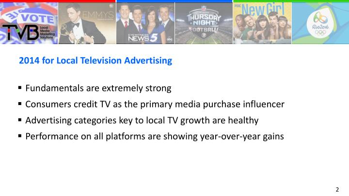 2014 for Local Television Advertising