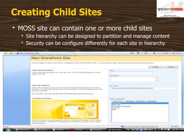 Creating Child Sites