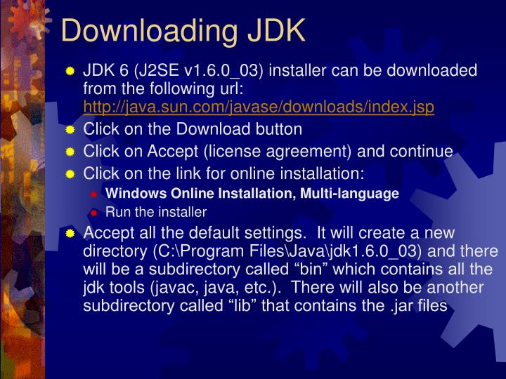 Downloading jdk