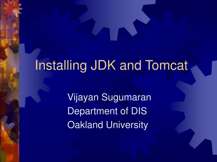 Installing jdk and tomcat