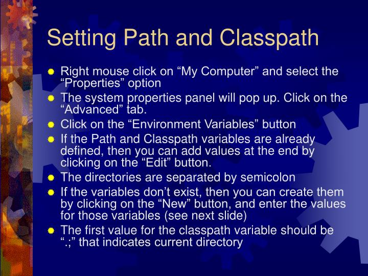 Setting Path and Classpath