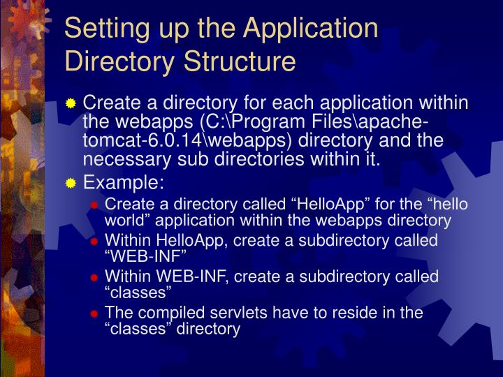 Setting up the Application Directory Structure