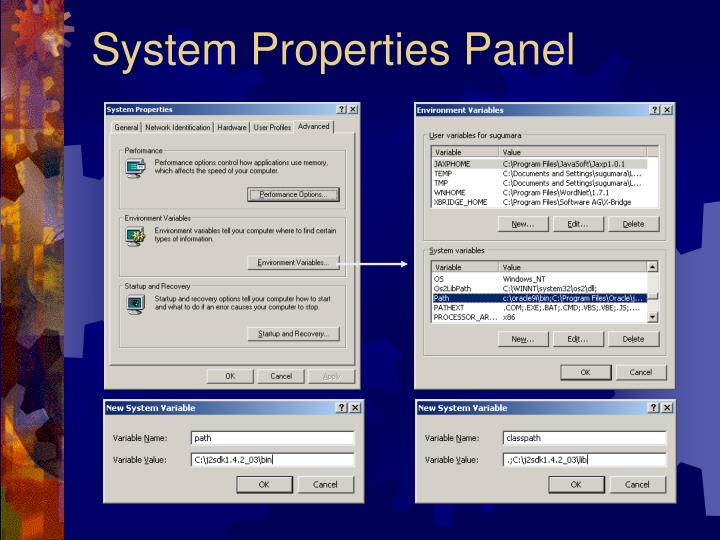 System Properties Panel