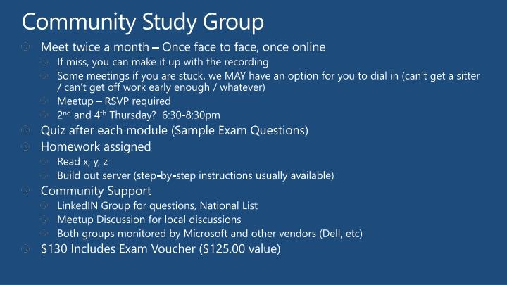 Community Study Group