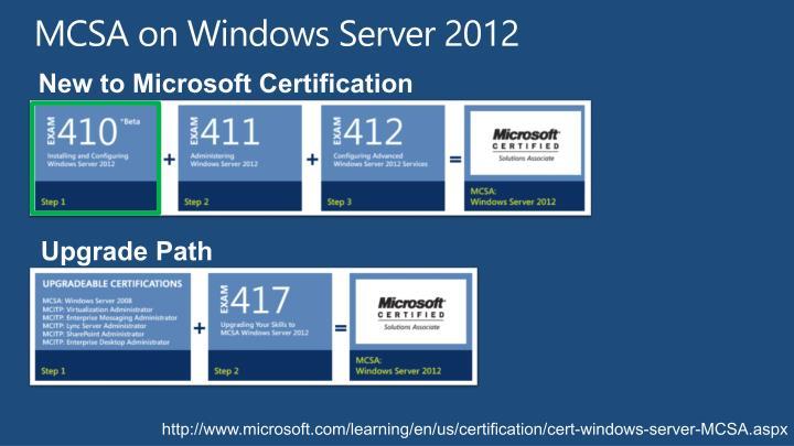 MCSA on Windows Server 2012