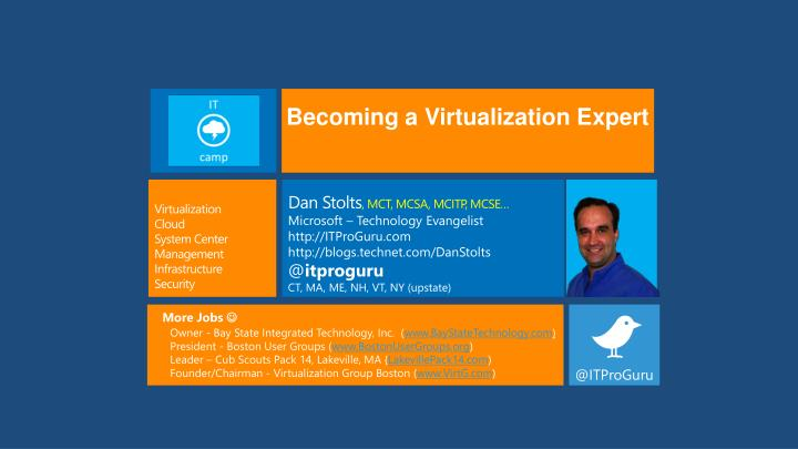Becoming a Virtualization Expert