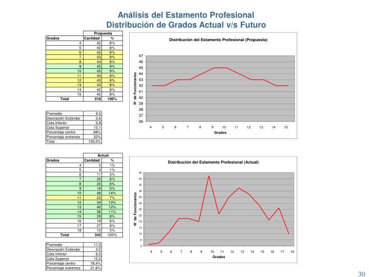 Análisis del Estamento Profesional