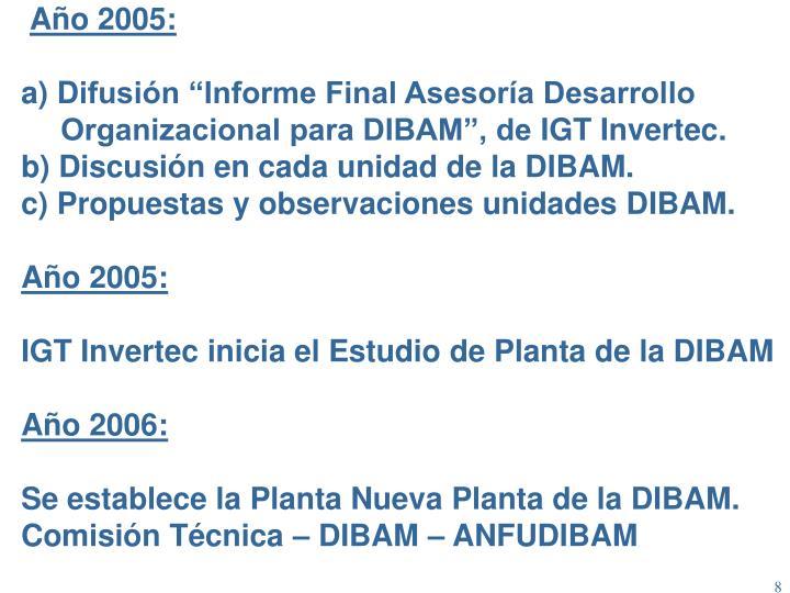 Año 2005: