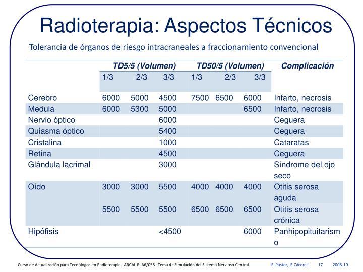 Radioterapia: Aspectos Técnicos