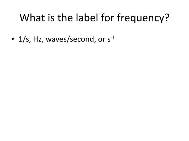 What is the label for frequency?