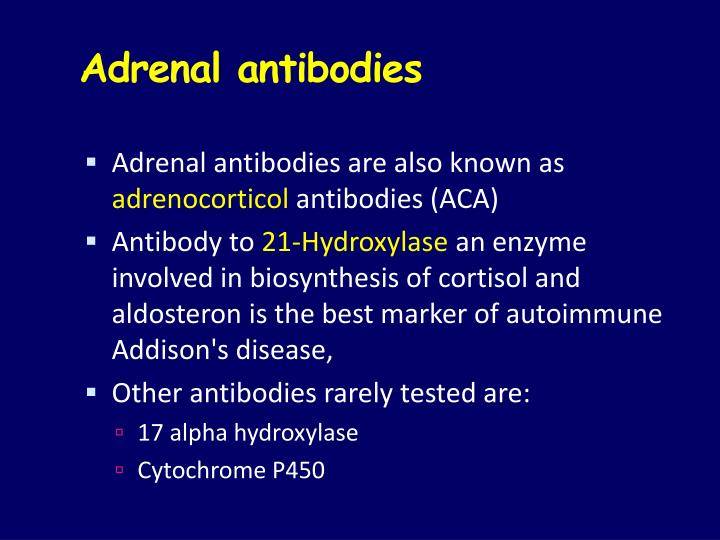 Adrenal antibodies