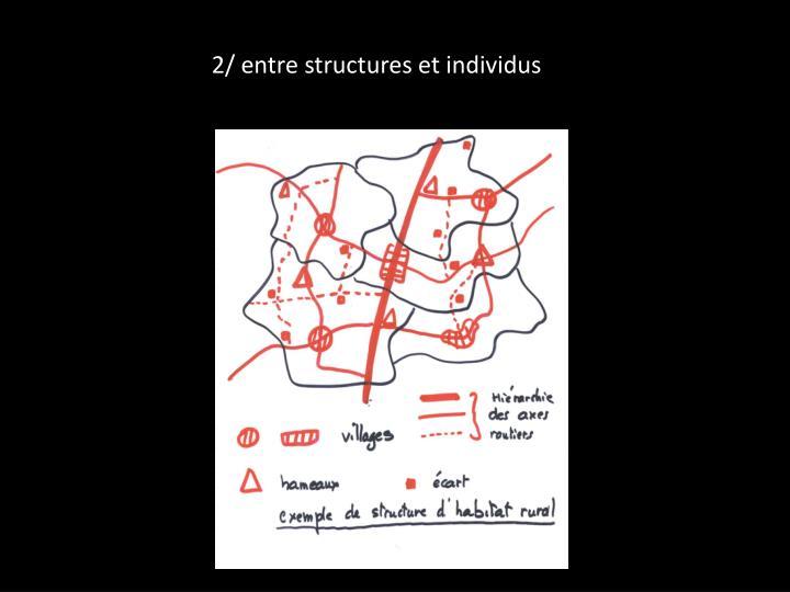 2/ entre structures et individus