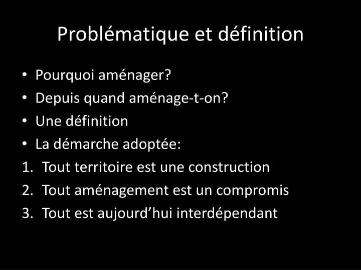 Problématique et définition