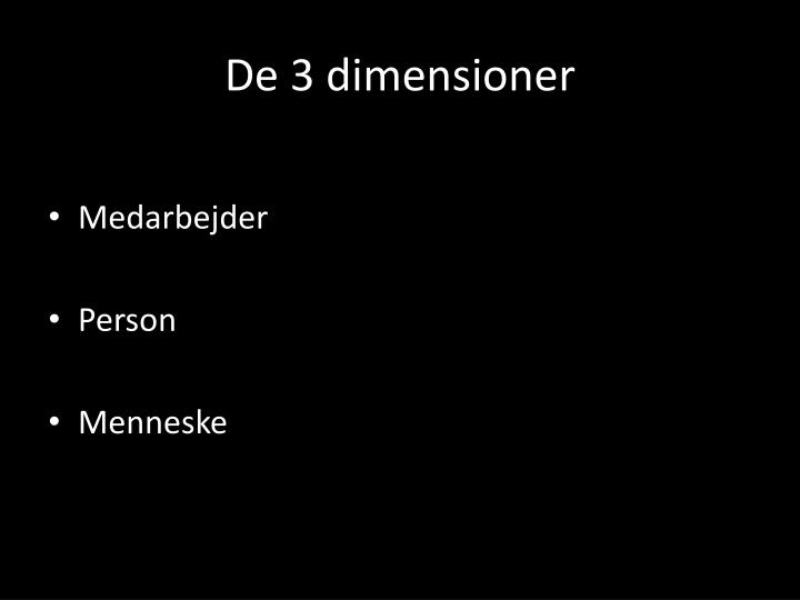De 3 dimensioner