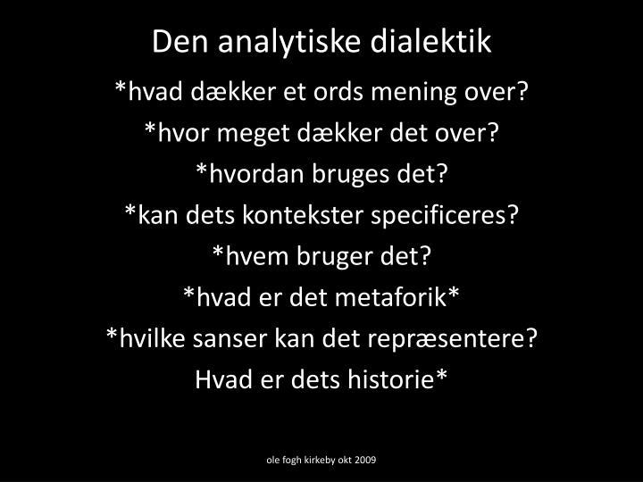 Den analytiske dialektik