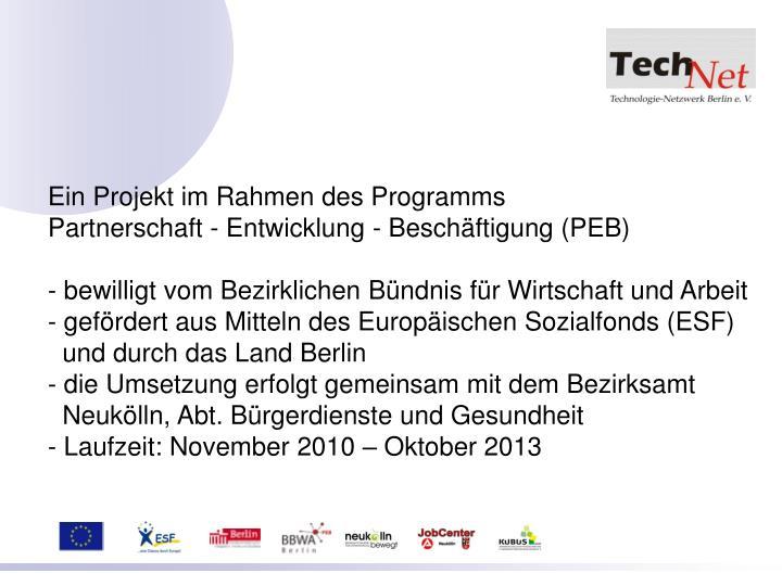 Ein Projekt im Rahmen des Programms