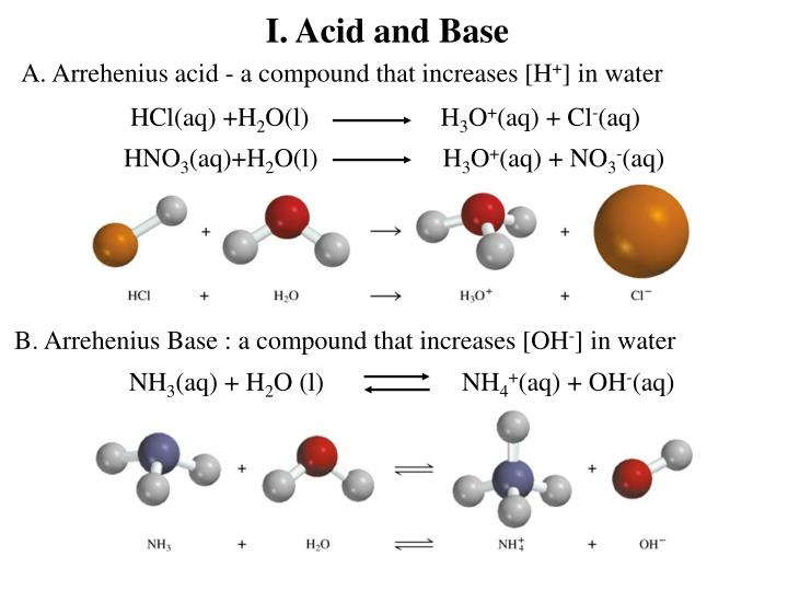I acid and base
