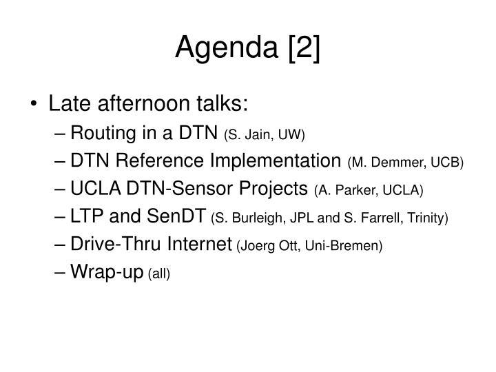 Agenda [2]