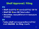 shelf approval filing