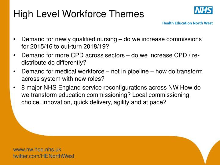 High Level Workforce Themes