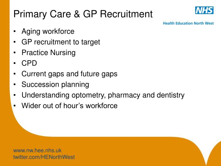Primary Care & GP Recruitment