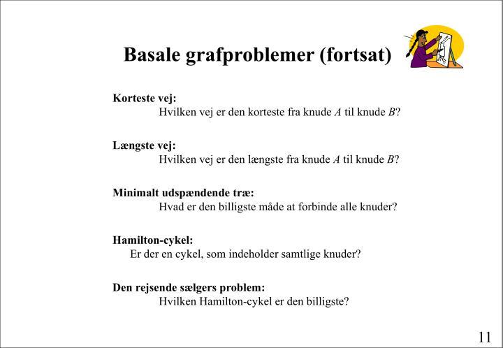 Basale grafproblemer (fortsat)