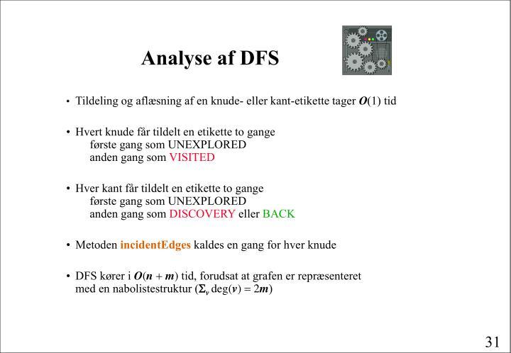 Analyse af DFS